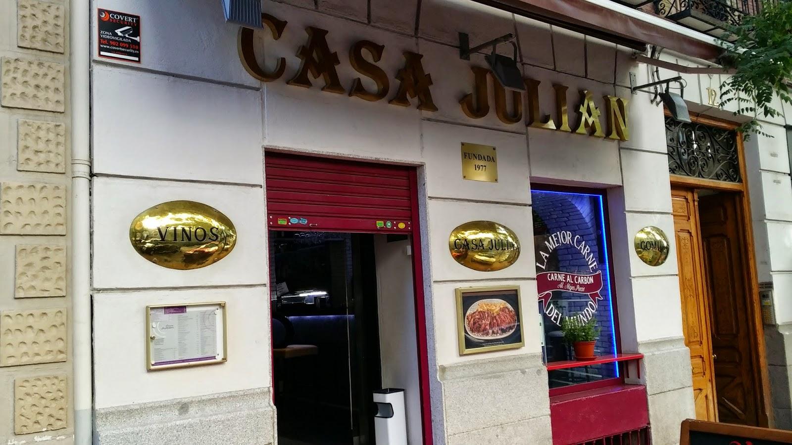 Casa Julián, especialidad en carnes a la brasa